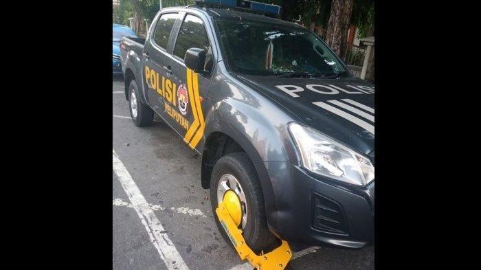 Petugas Dishub Gembok Mobil Patroli Polisi, Malah Dapat Pujian, Polisi Memilih Minta Maaf, Info