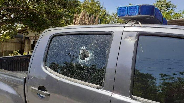 Kericuhan di Tuapukan Kabupaten Kupang Mobil Polisi Rusak Akibat Dilempari Batu
