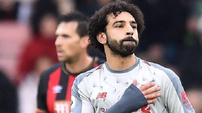 Top Score Liga Inggris, Mohamed Salah Bersaing dengan Kane dan Aubameyang