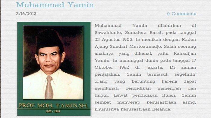 Sumpah Pemuda 28 Oktober 1928 Mohammad Yamin Tokoh Bangsa Perumus Sumpah Pemuda Pos Kupang