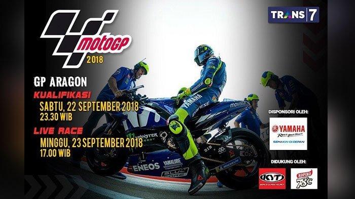 Link Live Streaming Trans7, Sedang Berlangsung MotoGP Aragon