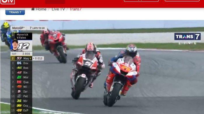 SEDANG BERLANGSUNG Live Streaming Trans7 MotoGP Malaysia 2019, Vinales dan Marquez Terdepan