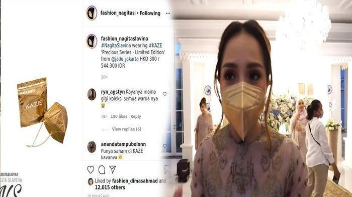 Viral, Netizen Tanyakan Harga Masker Emas Nagita Slavina, Begini Respon Istri Raffi Ahmad