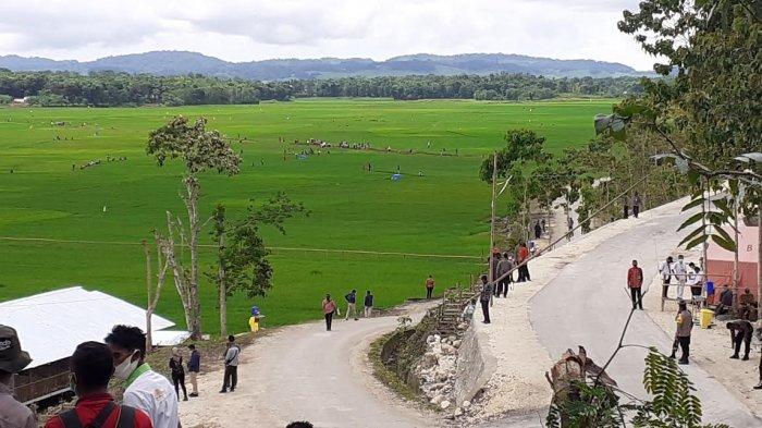 Lokasi Food Estate Tempat Kunjungan Presiden Joko Widodo di Sumba Tengah Disteril
