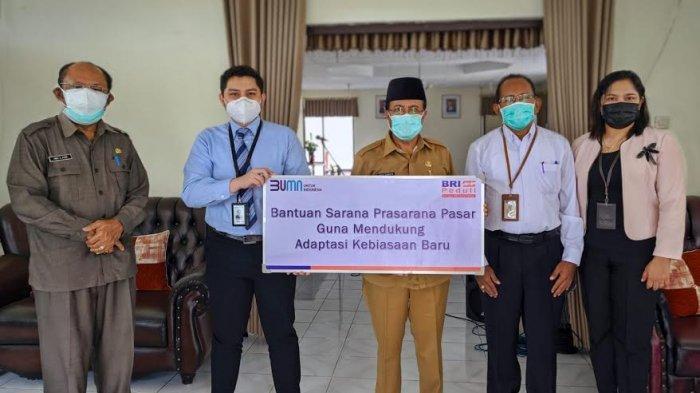 BRI Cabang SoE Beri Bantuan Sarana Cuci Tangan Untuk Pemda TTS