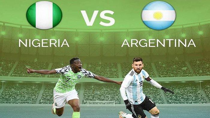 LIVE Trans TV Pukul 01.00 WIB Malam Ini, Nigeria vs Argentina: Laga Bertensi Tinggi