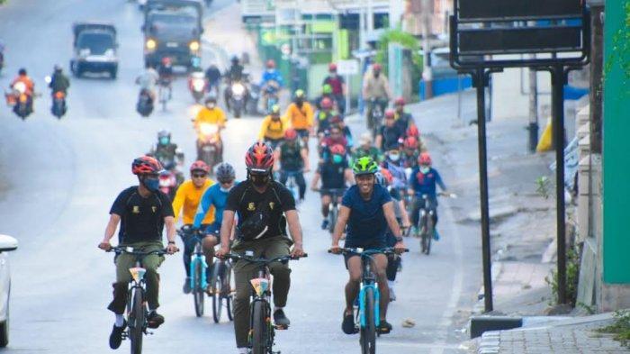 Jaga kebugaran Fisik Dimasa Pandemi Covid, Warga Korem 161/WS Gelar Olahraga Sepeda Santai