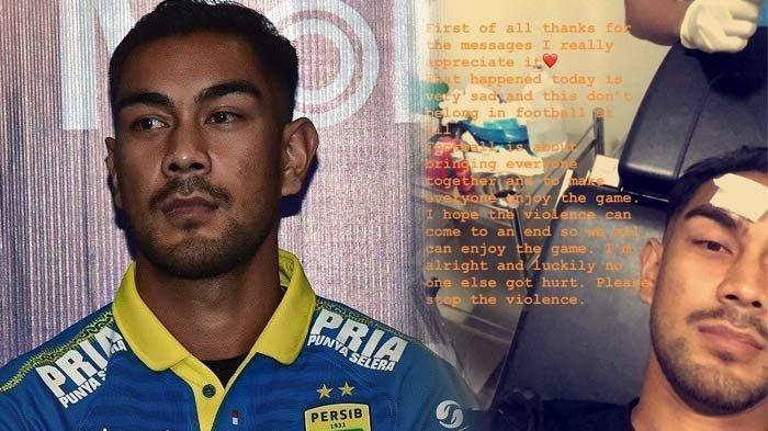 Bus Persib Bandung Dilempar Batu, Omid Nazari 9 Jahitan di Kepala, Penjelasan Dokter Maung Bandung