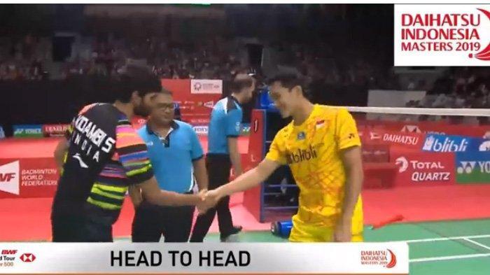Indonesia Masters 2019, Jonatan Christie ke Semifinal Usai Mengalahkan Kidambi Srikanth