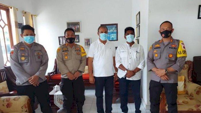 Pilkada Sumba Timur - Pamatwil dan Kapolres Berkunjung ke Khris Praing-David Melo Wadu