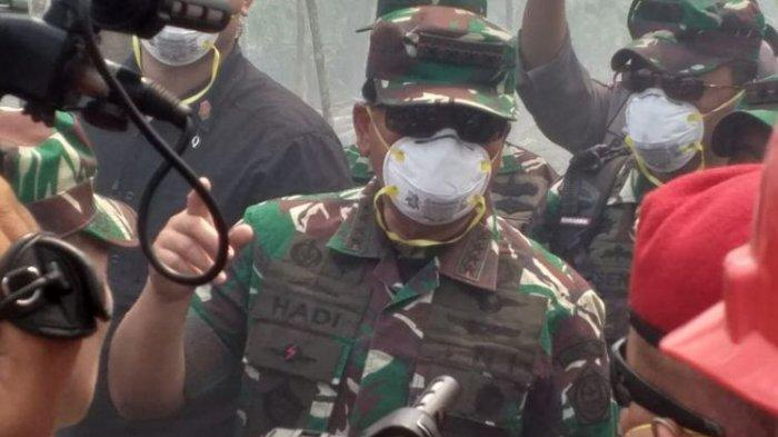 Panglima TNI Ikut Berusaha Memadamkan Api di Bengkalis, Ini Tiga Permasalahan yang Dihadapi