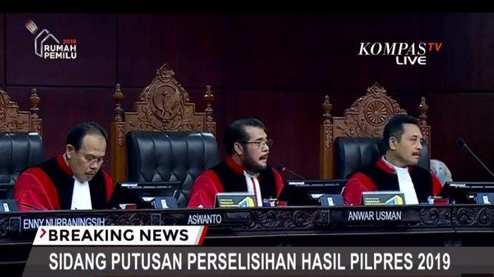 MK Putuskan Menolak Seluruh Gugatan Prabowo