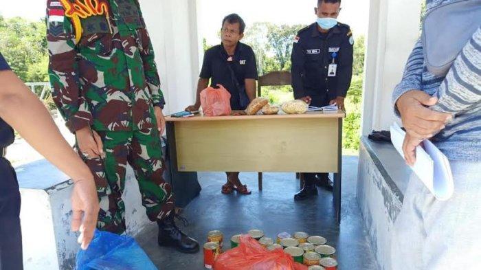 Satgas Pamtas RI-RDTL Yonarmed 6/4 Kostrad Gagalkan Penyelundupan Makanan Siap Saji & BBM