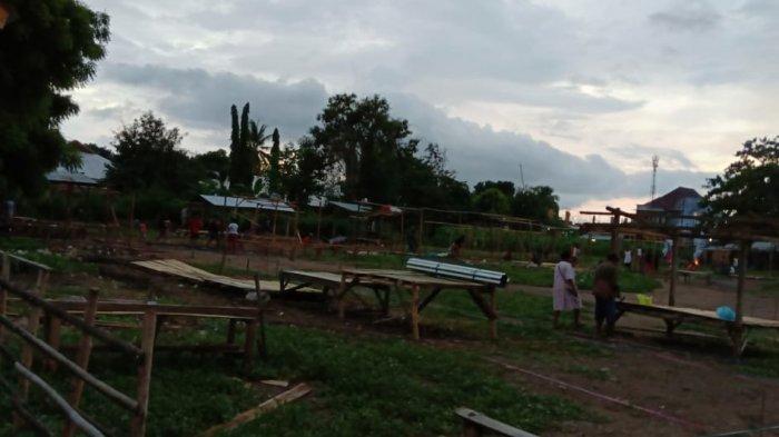 Pedagang di Pasar Danga Kota Mbay Direlokasi