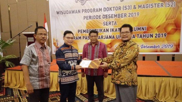 Pesan Doktor Andre Koreh saat Dikukuh Menjadi Ketua Ikatan Alumni Pasca Sarjana Undana 2019-2023