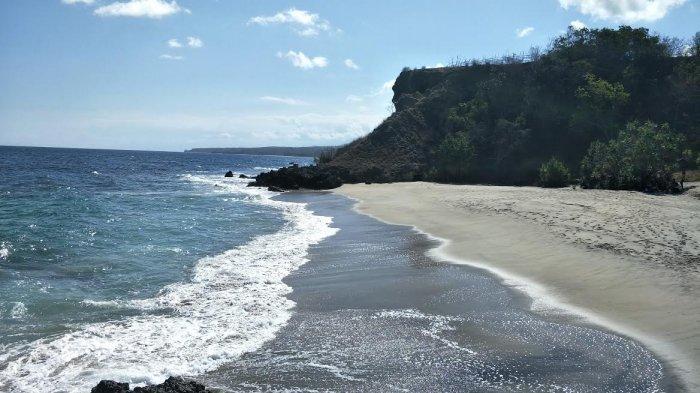 TRIBUN WIKKI: Indahnya Pasir Putih di Pantai Nanga Rawa Manggarai Timur Bikin Baper