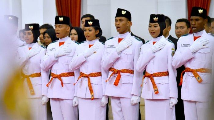 Ini Daftar Lengkap 68 Siswa Terplih Jadi Paskibraka 2019 dari 34 Provinsi Bertugas di Istana Negara