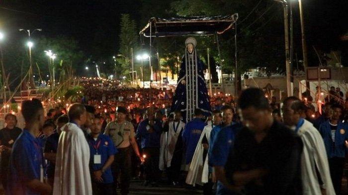Prosesi Semana Santa 2021 di Kota Larantuka Ditiadakan