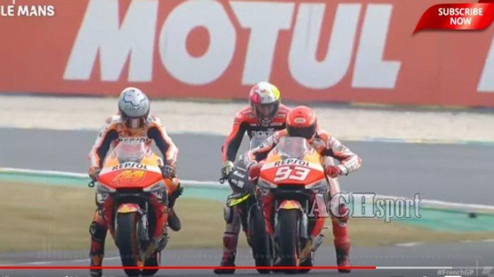 Daftar Rider yang Lolos ke Q2 MotoGP Perancis - Marquez, Rossi Masuk!, Live Streaming Fox Sports 1
