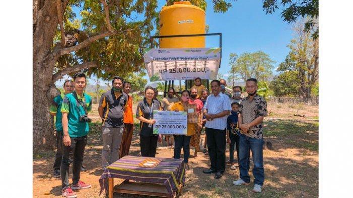 Pegadaian Atambua Bantu Sarana Irigasi Air Mikro Buat Kelompok Tani di Silawan
