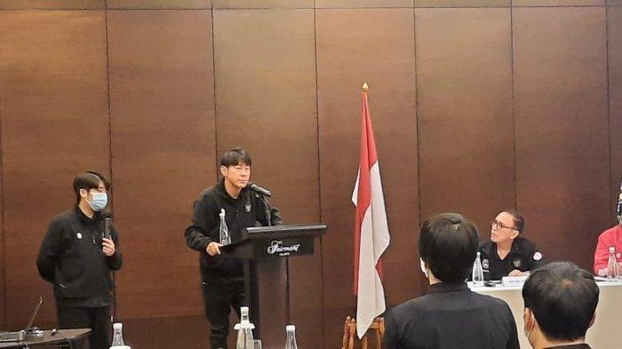 Shin Tae-yong Bakar Semangat Pemain Timnas: Kalian Harus Berkorban Untuk Indonesia, Jangan Capek