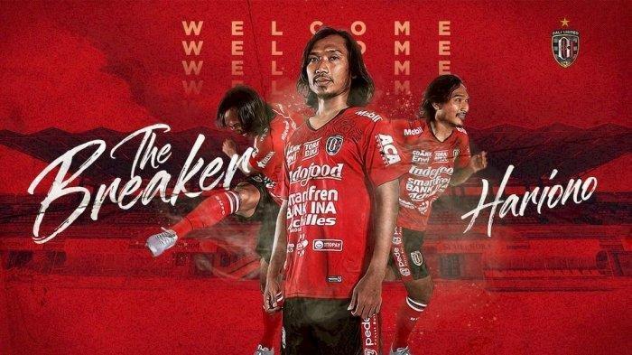 Bursa Transfer Pemain 2021 : Pemain Bali United Hariono Dikaitkan Pindah Klub Juara Liga 3 2019
