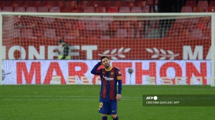 Hasil Semifinal Copa Del Rey Leg 1 Sevilla Babat Barcelona 2-0, Lionel Messi Cs Tak Berkutik