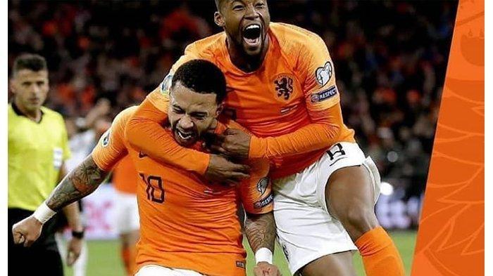 Timnas Belanda akan berhadapan dengan Timnas Inggris di Piala UEFA Nations, Jumat (7//6/2019) dini hari WIB.