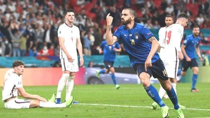Masih Imbang, Dan ini Skor Sementara Babak Kedua Italia vs Inggris 1-1, Gol Leonardo Bola Rebound