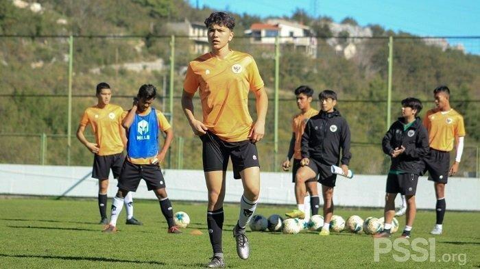 Pemain keturunan Jerman-Indonesia saat ikut berlatih bersama Timnas U-19 di Kroasia.