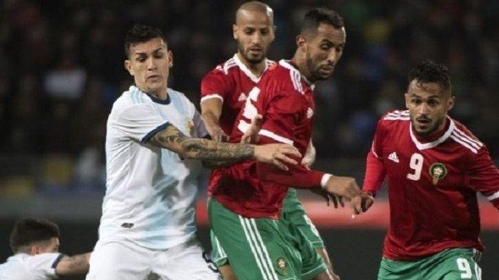 Tanpa Lionel Messi, Tim Tango Menang Skor 1-0 saat Maroko vs Argentina
