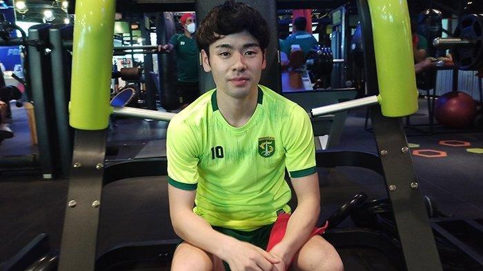 Taisei Marukawa saat mengikuti latihan tim Senin (31/5/2021) di gym area City of Tomorrow Mall, Surabaya.
