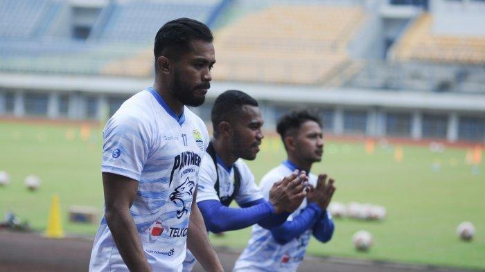 Zulham Zamrun sudah kembali bergabung dalam sesi latihan di Stadion Gelora Bandung Lautan Api (GBLA), Kamis (14/8/2020).