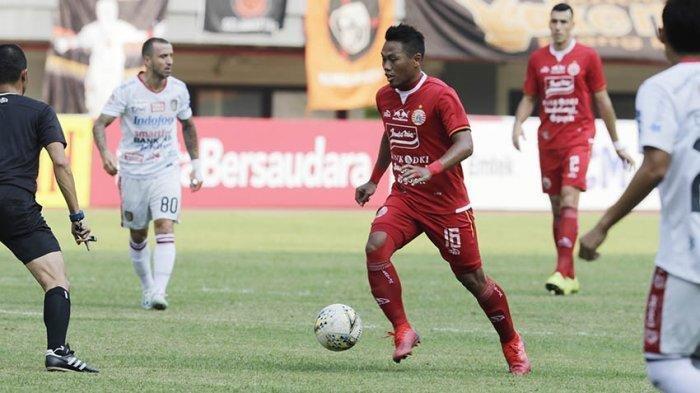 Tony Sucipto bek kiri Persija saat menghadapi Bali United di Stadion Wibawa Mukti, Cikarang, Kabupaten Bekasi