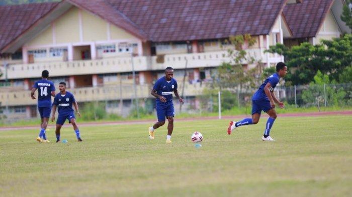 Susana latihan Persipura Jayapura, Selasa (23/3/2021) pagi.