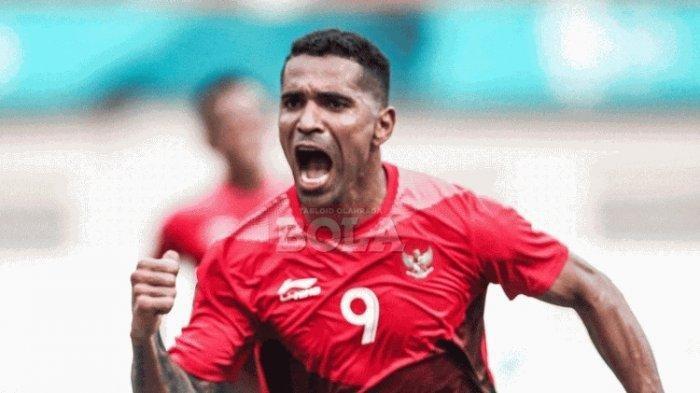 Beto Goncalves merayakan gol Timnas U-23 Indonesia ke gawang Uni Emirat Arab pada pertandingan babak 16 besar Asian Games 2018 di Stadion Wibawa Mukti, 24 Agustus 2018.