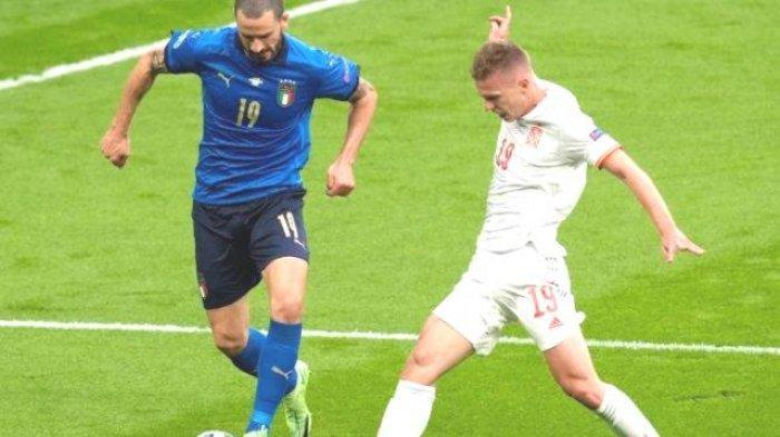 Masih Berjibaku di Lapangan Italia vs Spanyol, Tim Azzurri Tertekan Habis-Habisan, Nihil Peluang ?
