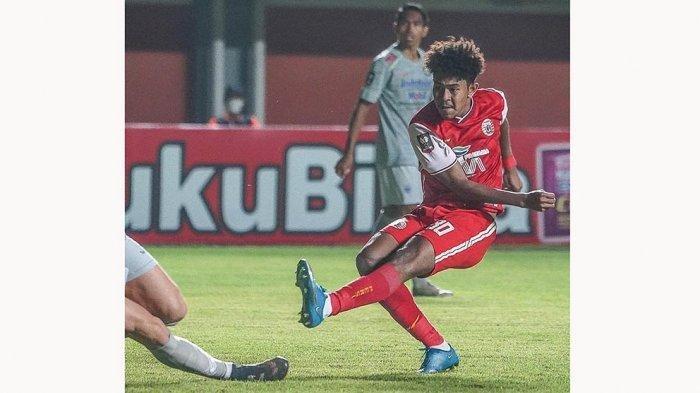 Braif Fatari mencetak gol cepat buat Persija Jakarta pada menit ke-1 pada laga leg 1 semifinal Piala Menpora 2021