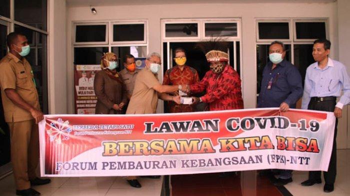 Pemkot Kupang Terima Bantuan 1.000 Masker FPK NTT