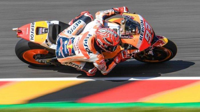 Kalahkan Rossi, Marquez Catat Kemenangan Ke-8 Beruntun pada GP Jerman