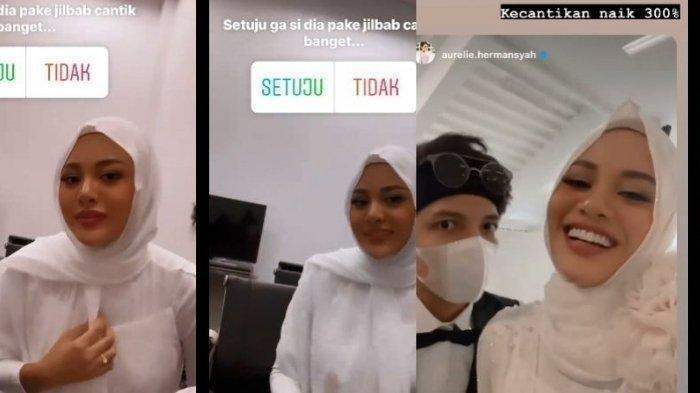 Cantiknya Aurel Pakai Hijab Usai Lamaran, Ini Pujian Manis Atta Halilintar:Cantiknya Naik 300 Persen