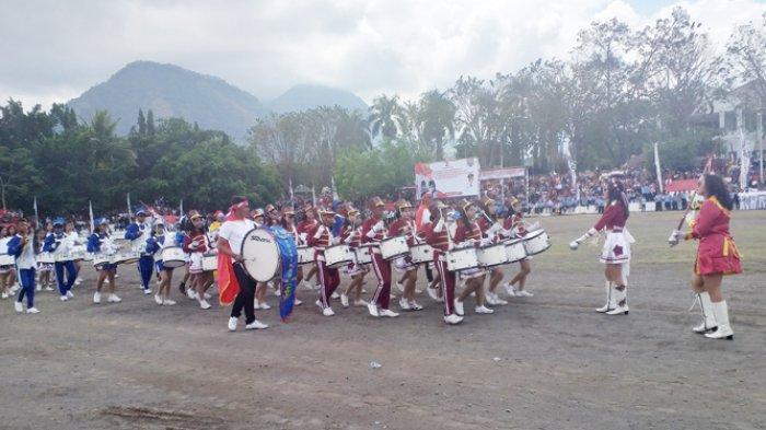 Penampilan Drum Band SMAK Frateran Ndao Memakau, Lihat Aksinya di Acara HUT Kemerdekaan RI