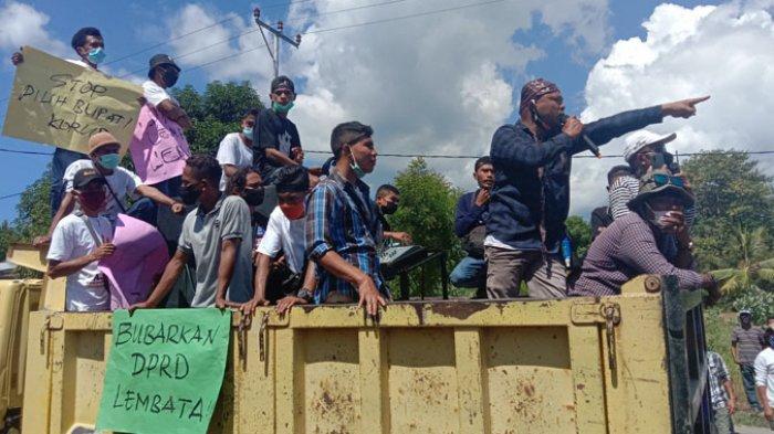 Pendemo Ajak DPRD Lembata Supaya Berwibawa di Depan Pemerintah