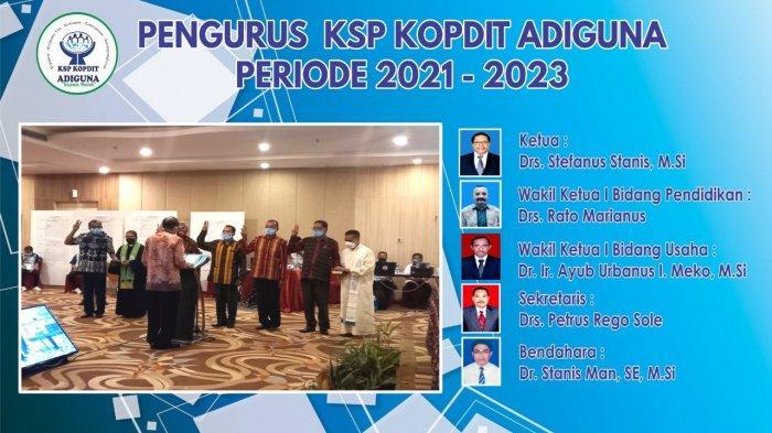 Hasil Pemilihan di Tujuh Tempat, Stefanus Stanis Ketua Pengurus Maria Ketua Pengawas Kopdit Adiguna