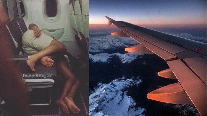 Dinilai Tak Pantas, Sepasang Penumpang Tidur di Lantai Kabin Pesawat, Fotonya Viral