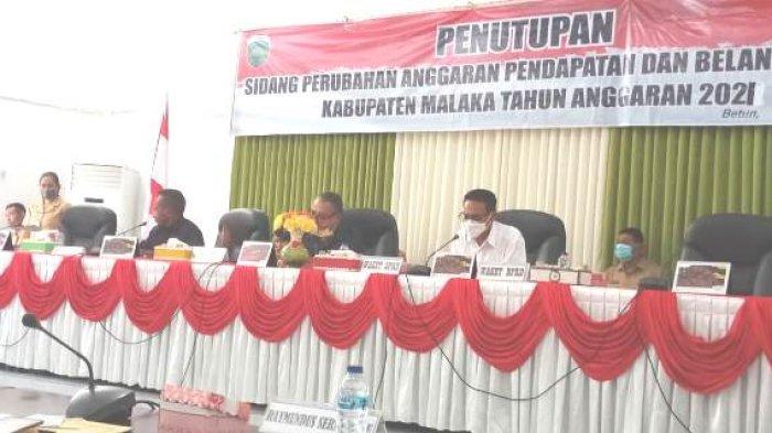 Sidang II DPRD Malaka Resmi Ditutup, Perda APBD Perubahan 2021 Segera Ditetapkan