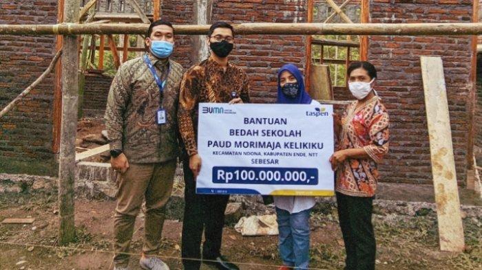 PT. TASPEN Cabang Ende Bantu Rp.100 Juta Bedah Sekolah di Desa Kelikiku Ndona