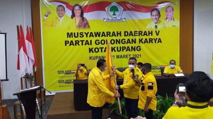 Jonas Salean Aklamasi Ketua DPD Golkar Kota Kupang, Melki Laka Lena: Kembalikan Kejayaan Golkar