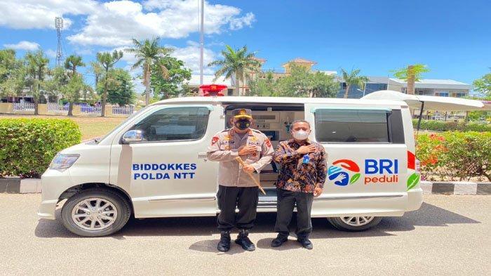 Percepat Vaksinasi, Bank BRI Berikan Satu Unit Mobil Ambulance Kepada Biddokes Polda NTT