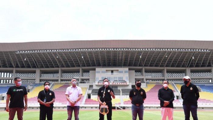 Peresmian Bhayangkara Solo FC di Stadion Manahan, Solo, Jawa Tengah, Jumat (27/11/2020).
